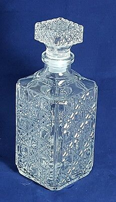 Beautiful Vintage French Square Decanter by J G Durand. Height: 24 cm.