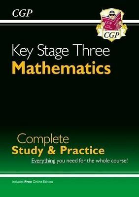 BOOK : KS3 Maths Complete Study  Practice Complete Re by CGP Books Paperback New