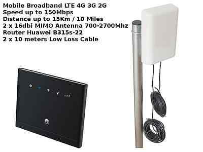 MIMO Mobile Broadband Antenna Booster Huawei B315 LTE 4G 3G 150MBPS 16dbi multi