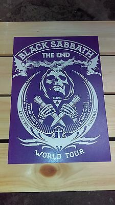 Black Sabbath Poster The End Tour concert gig poster Sabbath Concert Tour Poster