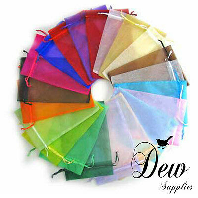40 x Mixed Color Jewelry Candy Organza Pouch Wedding Gift Favor Bag 7x9cm