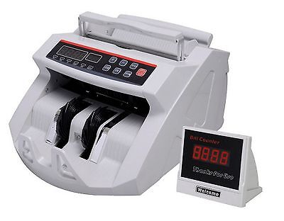 Bill Counter Cash Money Counting Machine Counterfeit Detector Currency Bank UVMG