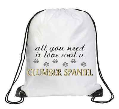 Clumber Spaniel Dog Printed Design School Leisure Rucksack Bag BCLUMBER-1