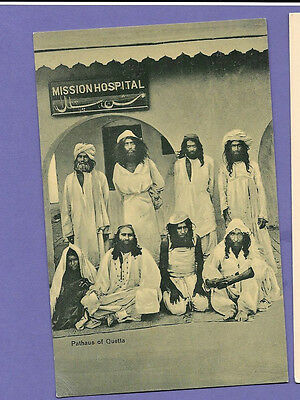 Pathaus Of Quetta Ethnic India Original Vintage Old Real Photo Postcard Rs