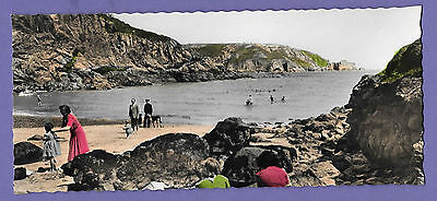 Guernsey Bot Beach Channel Islands Panoramic Original Old Real Photo Postcard Rt