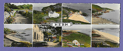 Herm Channel Islands Panoramic Original Old Real Photo Postcard Rt