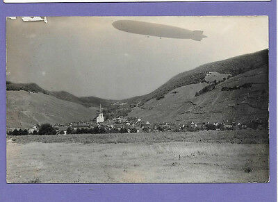 Zeppelin Airship Germany Original Vintage Old Real Photo Postcard Rr