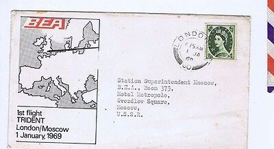 POSTAL HISTORY ORIGINAL VINTAGE OLD UK 9d STAMPS on cover 1969 VI
