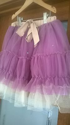 """BNWT Girls """"Their Nibs"""" purple tutu skirt - Ooodles of fabric size 9-10 rrp £35"""