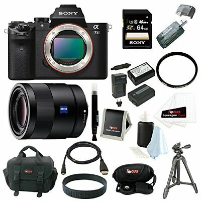 Sony Alpha a7II Digital Camera Body and 55mm F1.8 ZA Lens with 64GB Acc Bundle
