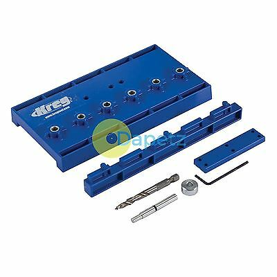 "Shelf Pin Jig Standard 32mm (1 1/4"")Hole Spacing Removable Dual Position Fence"