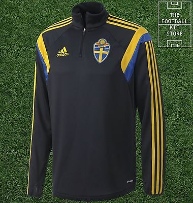 Sweden Midlayer Shirt - Official Adidas Football 1/4 Zip Training Top - Boys