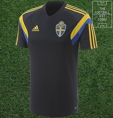 Sweden Training Shirt - Official Adidas Football Training Top - All Sizes