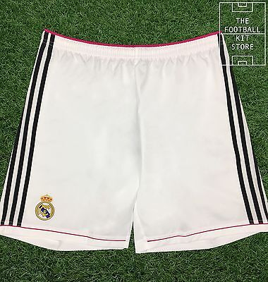 Real Madrid Home Shorts - Official Adidas Football Shorts - All Sizes
