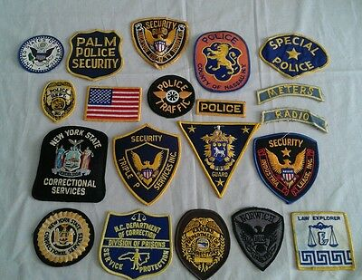 Lot 20 Police Department Security Guard Patches Correctional Services New York