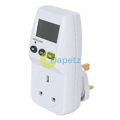 Mains Plug In Power Consumption Monitor Energy Meter Socket Kw Amps Watts
