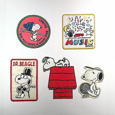 Snoopy Peanuts Cartoon Patch Embroidered Iron On Patches Sew On Patches B