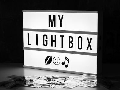 New Locomocean A4 Cinematic LED Lightbox Lighting Sign Box 85 pcs Gift Set Xmas