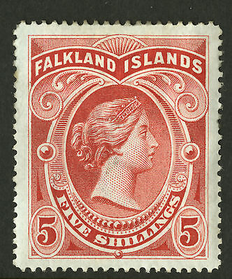 Falkland Islands  1898  Scott # 21  Mint Hinged