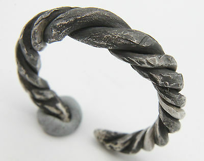VIKING Period Silver Twisted Ring Scandinavian Norse Jewelery 1000-1100 AD VF+++