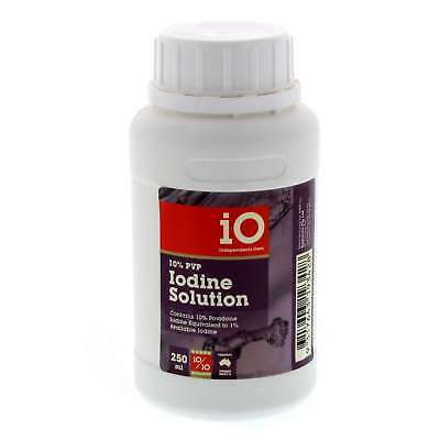 Iodine PVP 10% Horse Equine 250ml Cleaning Healing For Wounds And Burns