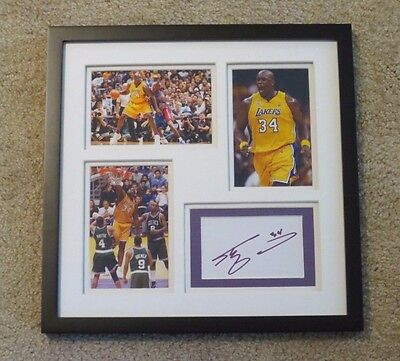 Shaquille O'Neal Autograph Signature Framed LAKERS Basketball Signed Shaq
