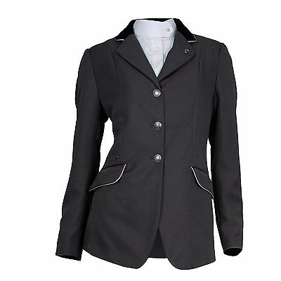 Waldhausen ELT Child's Show Jacket-Black with Silver Piping-16