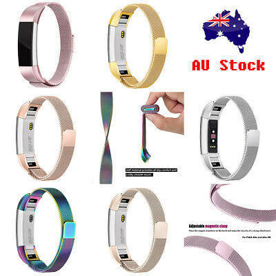 Milanese Magnetic Loop Stainless Replacement Watch Band Strap For Fitbit Alta HR