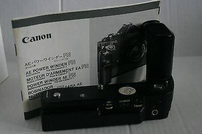 Canon AE Power Winder FN for Canon F-1 Excellent with Instruction Booklet