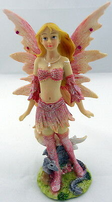 Beautiful - FAIRY WITH DRAGON - Girl Gift Figurine Ornament - NEW