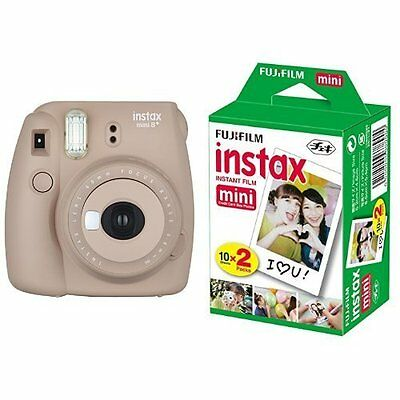 New Model: Fujifilm INSTAX Mini 8 Plus Instant Camera Brown Colour + 20 Film Set