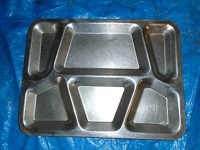 Vintage WWII ERA U.S. NAVY Mess Hall Lunch Tray Stainless STEEL E.A. Co. 1944