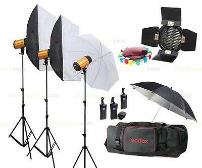 Godox 300SDi 900W Studio Strobe Flash 3 x 300W Light Photography Lighting Kit