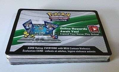 Pokemon online PTCGO BREAKthrough Code cards lot of 36 Unused