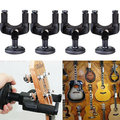 4Pcs Guitar Hanger Wall Mount Holder Stand Hooks Display Acoustic Electric Bass