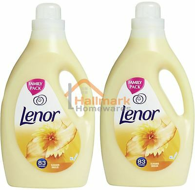 2 x Lenor Fabric Conditioner Summer Breeze 83 Washes 2.905L