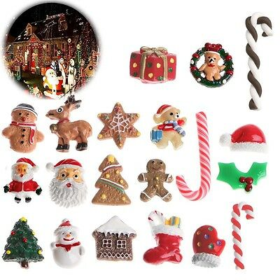 10Pcs Mixed Christmas Claus Santa Ornaments Party Tree Xmas Hanging Decoration
