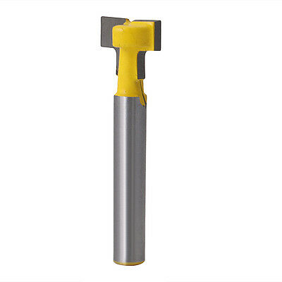 1/2'' T-Slot 1/4'' Shank Cutter Steel Handle Milling Router Bit Woodworking Tool