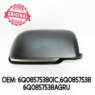 Right Side Wing Mirror Cover Cap Casing Black For VW Volkswagen Polo 02 - 05