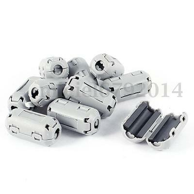 10Pcs Grey Clip-on RFI EMI Core Filter Snap Around Ferrite For 5mm Cable