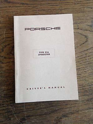Porsche 356 Speedster Owners Manual *new