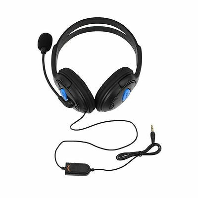 Wired Gaming Headset Headphones with Microphone for Sony PS4 PlayStation 4 Q@
