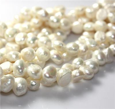 25 pcs 7-8mm Natural IVORY FRESHWATER PEARL BEADS GRADE A