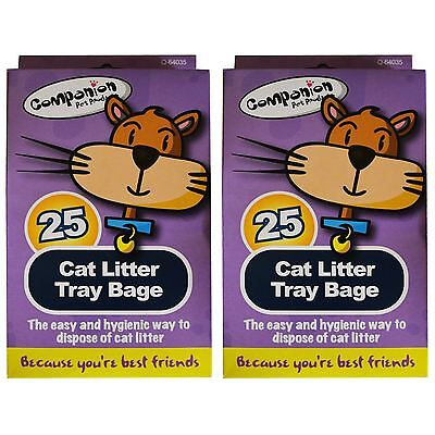 25 Pack Cat Litter Tray Liners Pet Waste Disposable Bag Kitten Hygienic Standard
