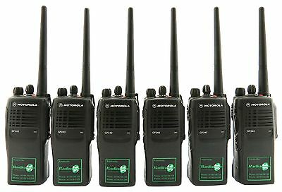 MOTOROLA GP340 VHF 5 WATT TWO WAY WALKIE-TALKIE RADIOS x 6 - FARMING & COUNTRY