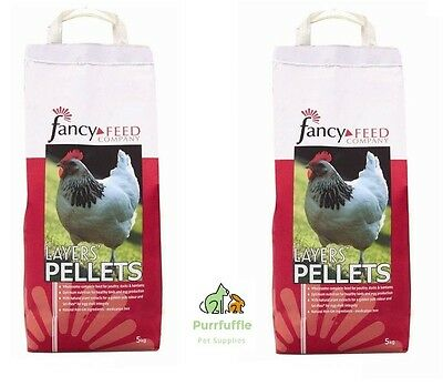 2X 5Kg Bags Of Fancy Feed Layers Pellets Chicken Duck Goose Poultry Bantam Food
