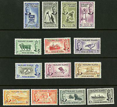 Falkland Islands  1952  Scott #107-120  Mint Never Hinged Set