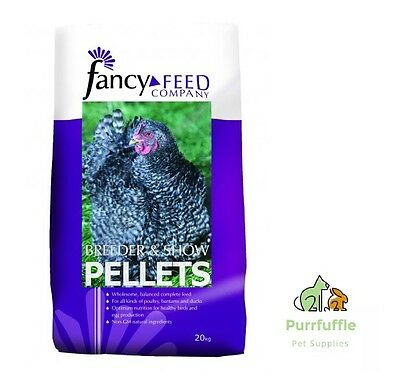 20Kg Fancy Feed Breeder & Show Pellets Poultry Chicken Duck Goose Bantam Food