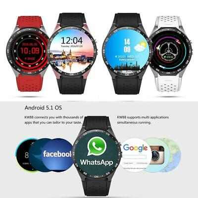 KINGWEAR KW88 3G SmartWatch Phone Android MTK6580 Bluetooth Quad Core 1.3GHZ