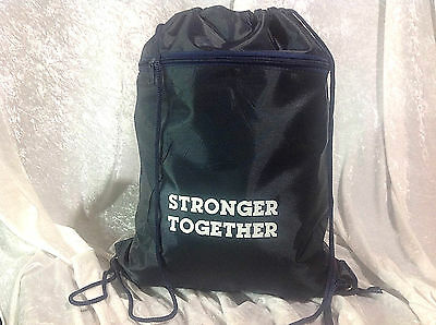 Hillary Clinton Democrat  STRONGER TOGETHER Drawstring Tote Backpack